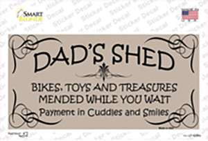 Dads Shed Wholesale Novelty Sticker Decal