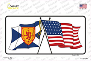 United States Scotland Crossed Flags Wholesale Novelty Sticker Decal