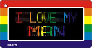 Love My Man Rainbow Designs Wholesale Novelty Key Chain