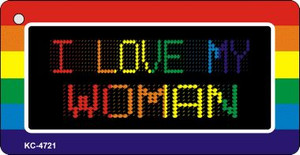 Love My Woman Rainbow Designs Wholesale Novelty Key Chain