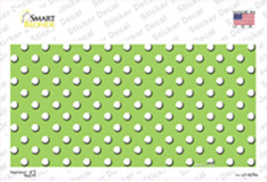 Lime Green Polka Dot Wholesale Novelty Sticker Decal