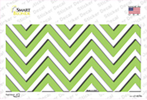 Lime Green Chevron Wholesale Novelty Sticker Decal