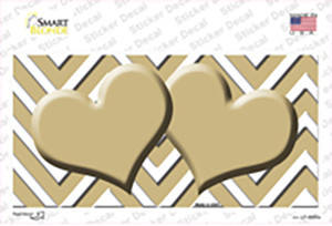 Gold Chevron Hearts Wholesale Novelty Sticker Decal