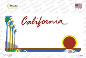California State Blank Wholesale Novelty Sticker Decal
