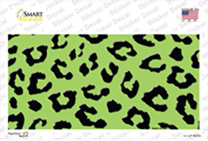 Lime Green Black Cheetah Wholesale Novelty Sticker Decal
