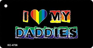 Love My Daddies Rainbow Designs Wholesale Novelty Key Chain KC-4736