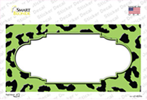 Lime Green Black Cheetah Scallop Wholesale Novelty Sticker Decal