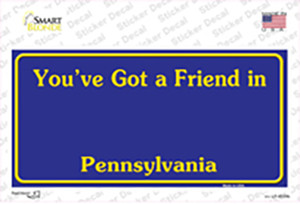 Pennsylvania State Background Wholesale Novelty Sticker Decal