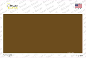 Brown Solid Wholesale Novelty Sticker Decal