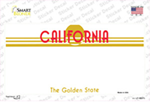 California Golden State State Blank Wholesale Novelty Sticker Decal