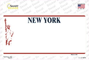 New York State Blank Wholesale Novelty Sticker Decal
