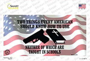 Every American Should Know Wholesale Novelty Sticker Decal