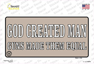 Guns Made Them Equal Wholesale Novelty Sticker Decal