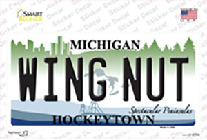 Wing Nut Michigan State Wholesale Novelty Sticker Decal