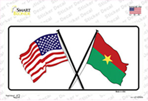 United States Burkina Faso Crossed Flags Wholesale Novelty Sticker Decal