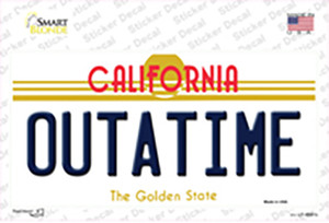 California Outtatime Wholesale Novelty Sticker Decal