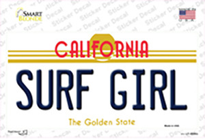 Surf Girl California Wholesale Novelty Sticker Decal