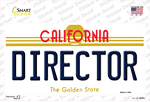 Director California Wholesale Novelty Sticker Decal
