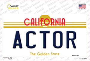 Actor California Wholesale Novelty Sticker Decal