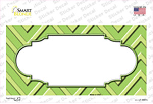Lime Green Lighter Lime Green Scallop Chevron Wholesale Novelty Sticker Decal