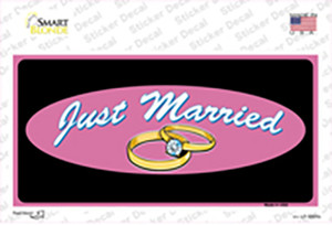 Just Married Wholesale Novelty Sticker Decal