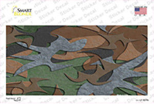 Textured Camouflage Wholesale Novelty Sticker Decal
