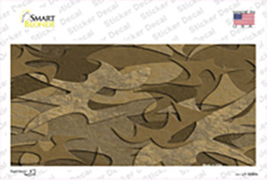 Brown Camouflage Wholesale Novelty Sticker Decal