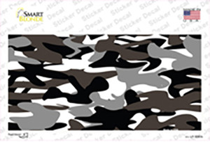 Black And White Camouflage Wholesale Novelty Sticker Decal