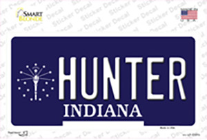 Hunter Indiana State Wholesale Novelty Sticker Decal