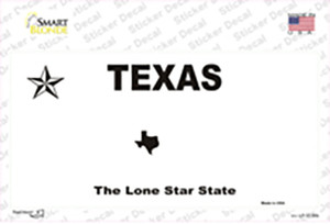 Texas State Wholesale Novelty Sticker Decal