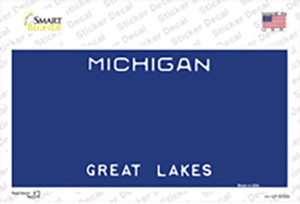Michigan Great Lakes State Blank Wholesale Novelty Sticker Decal