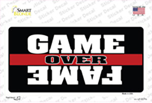 Game Over Fame Wholesale Novelty Sticker Decal