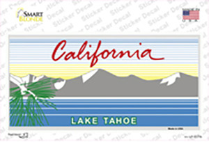 California Lake Tahoe State Blank Wholesale Novelty Sticker Decal