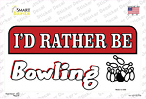 Rather Be Bowling Wholesale Novelty Sticker Decal