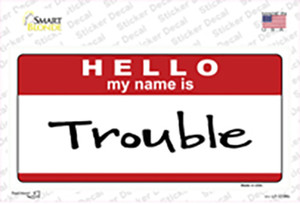 Trouble Wholesale Novelty Sticker Decal