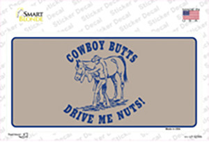 Cowboy Butts Wholesale Novelty Sticker Decal