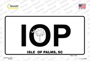 IOP Isle of Palms Wholesale Novelty Sticker Decal
