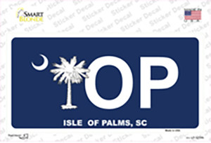 IOP Isle of Palms Blue Wholesale Novelty Sticker Decal