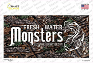 Fresh Water Monsters Wholesale Novelty Sticker Decal