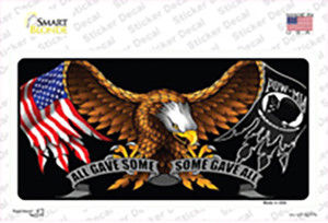 POW MIA All Gave Some Some Gave All Wholesale Novelty Sticker Decal