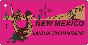New Mexico Pink Wholesale Novelty Key Chain
