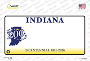Indiana State Bicentennial Wholesale Novelty Sticker Decal