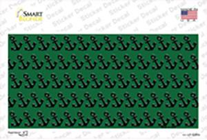 Green Black Anchor Wholesale Novelty Sticker Decal