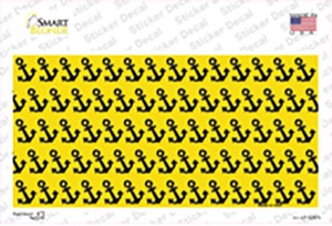 Yellow Black Anchor Wholesale Novelty Sticker Decal