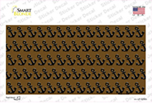 Brown Black Anchor Wholesale Novelty Sticker Decal