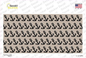 Tan Black Anchor Wholesale Novelty Sticker Decal