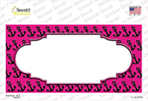 Pink Black Anchor Scallop Center Wholesale Novelty Sticker Decal