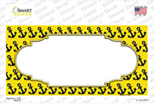 Yellow Black Anchor Scallop Center Wholesale Novelty Sticker Decal