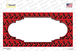 Red Black Anchor Scallop Center Wholesale Novelty Sticker Decal