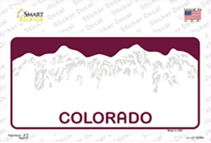 Colorado State Blank Wholesale Novelty Sticker Decal